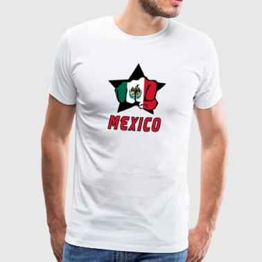 Mexico fist with national flag - Men's Premium T-Shirt