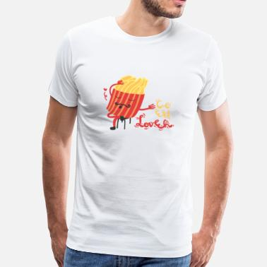 French Fries French Fries French C'est Love - Mannen Premium T-shirt