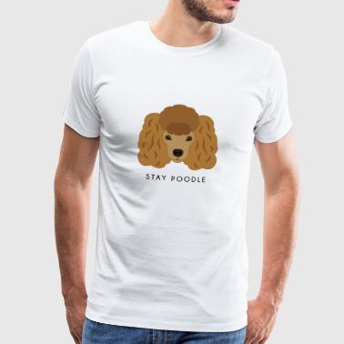 Poodle Brown - Men's Premium T-Shirt