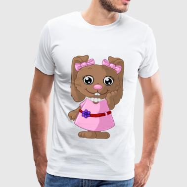 Cute cartoon bunny - Men's Premium T-Shirt