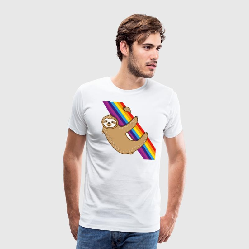 Lazy Rainbow Sloth Relaxing Men Women Kids Gift - Men's Premium T-Shirt