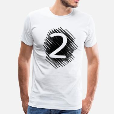Number 2 Number 2 two - Men's Premium T-Shirt