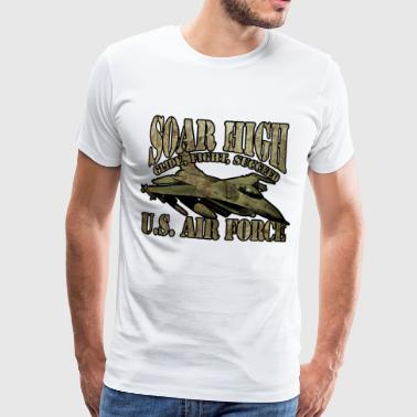 American Air Force airplane flying plane - Men's Premium T-Shirt
