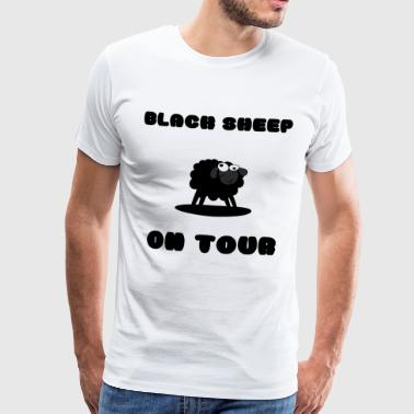 Black Sheep on Tour! - Premium T-skjorte for menn