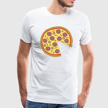 The Missing Pizza Salami - Matching Couple Love - Mannen Premium T-shirt