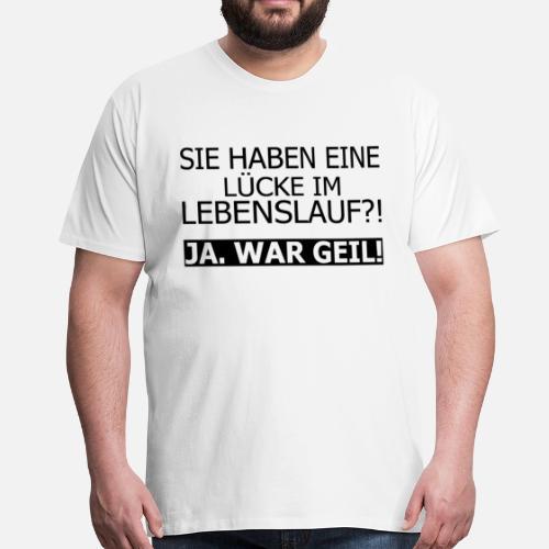 Lebenslauf Lucke Spass Job Lustig Spruch Manner Premium T Shirt