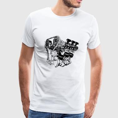 Motor racing engineer gift - Mannen Premium T-shirt