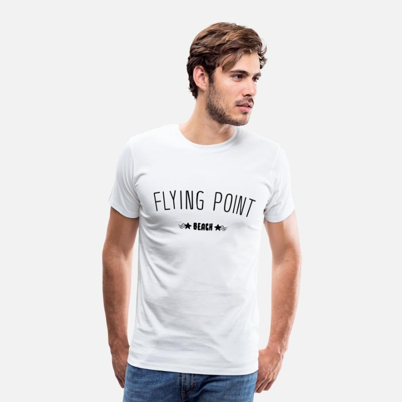 Waves T-Shirts - Flying Point Beach lettering gift idea - Men's Premium T-Shirt white