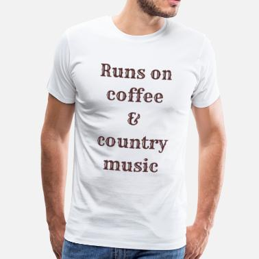 Countrymusic Coffee & country music - Men's Premium T-Shirt