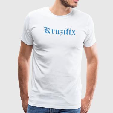 Crucifix - iconic curse word - Men's Premium T-Shirt