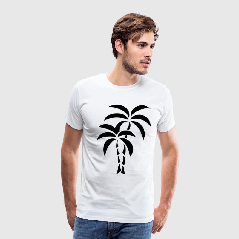 Palm Tree / Tattoo Style / Vector / - Men's Premium T-Shirt