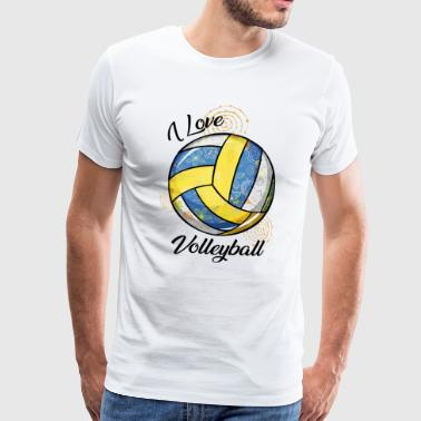I Love Volleyball - Camiseta premium hombre