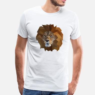 Lion low poly style - Men's Premium T-Shirt