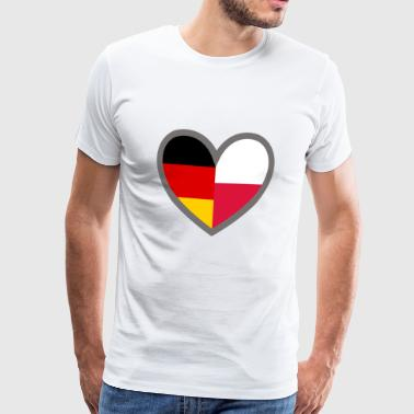 I Love Polska Heart DE-PL frame - Men's Premium T-Shirt