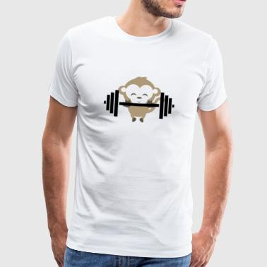 Fitness Monkey - Premium T-skjorte for menn