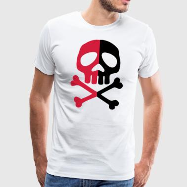 Skull Anarchy Pirate Party Shapes Tegning - Premium T-skjorte for menn