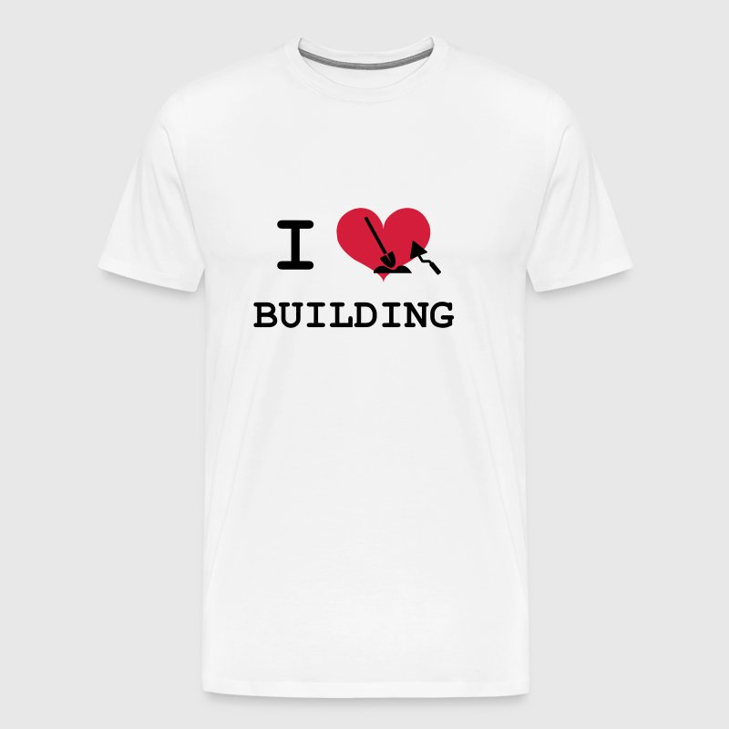 I Love Building - Men's Premium T-Shirt