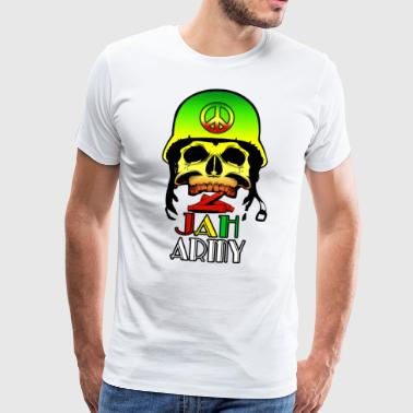 Jah Army Skull - Men's Premium T-Shirt