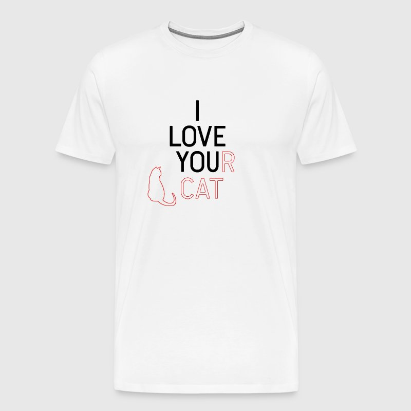 I love your cat - I love you - cats - Men's Premium T-Shirt