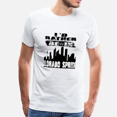Colorado Springs Gift Identiteitskaart eerder in Colorado Springs - Mannen Premium T-shirt