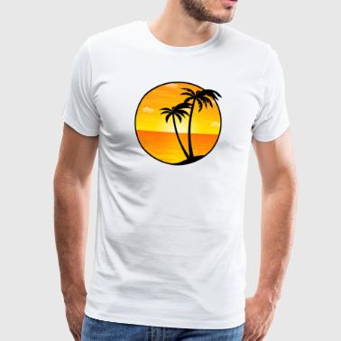 Palmboom Coole Spreuken Palms Holiday Sea beach 03 Allround Designs - Mannen Premium T-shirt