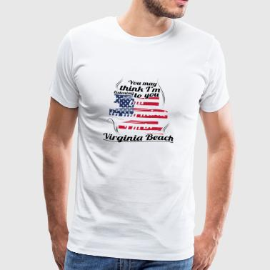 TERAPI ferie reise AMERICA USA Virginia Beach - Premium T-skjorte for menn