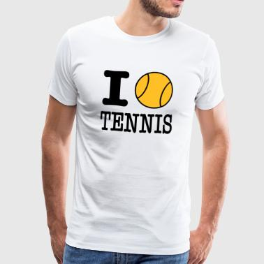 i love tennis tennisball - Men's Premium T-Shirt