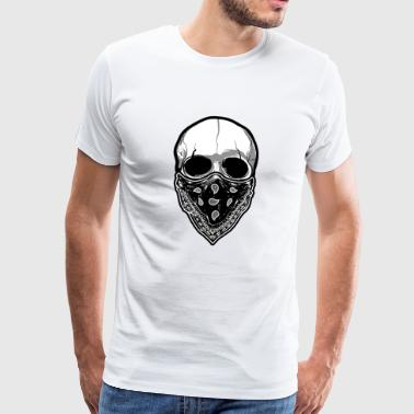 Skull with cloth - Men's Premium T-Shirt