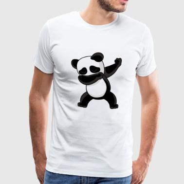 Dabbing Panda Bear Dancing - Men's Premium T-Shirt