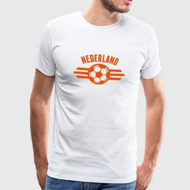 Dutch Oranje Support nederland badge iii 1c - Men's Premium T-Shirt