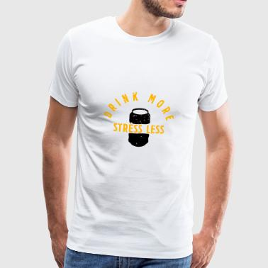 Dosenbier Drink more Stress less - Männer Premium T-Shirt