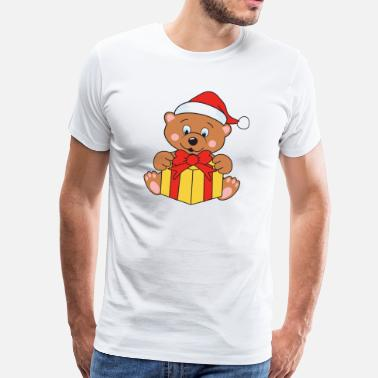 Brown Bear Christmas theme Christmas brown bear Teddy Bear - Men's Premium T-Shirt