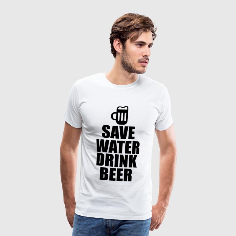 Alcool Fun Shirt - Save water drink beer - T-shirt Premium Homme