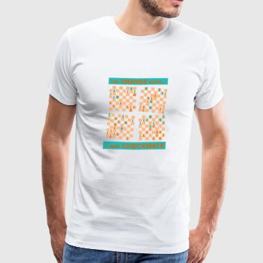 Le mouvement ORANGE ... et CHECKMATE - Queen - T-shirt Premium Homme