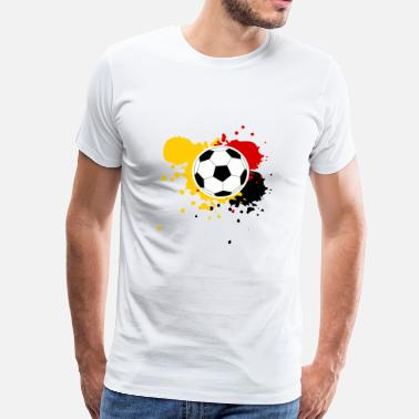 Paint Splash Soccer paint splashes Germany Belgium - Men's Premium T-Shirt
