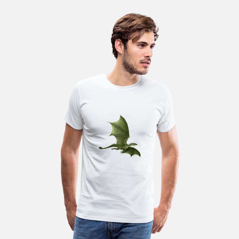 Legend T-Shirts - Flying dragon - Men's Premium T-Shirt white