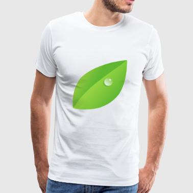 Dew on leaf - Men's Premium T-Shirt