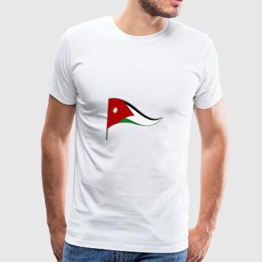 Jordan Amman Arab flag flag national colors - Men's Premium T-Shirt