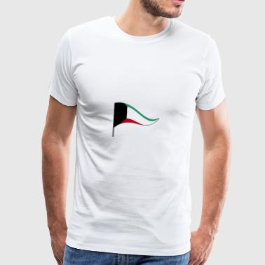 Kuwait City KWT Flag Flag Landesfarben Arab - Men's Premium T-Shirt