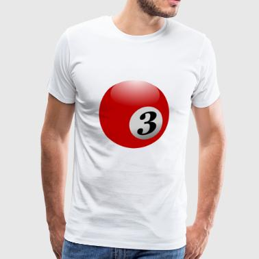 pool Billards biljard snooker kö bollen sport44 - Premium-T-shirt herr