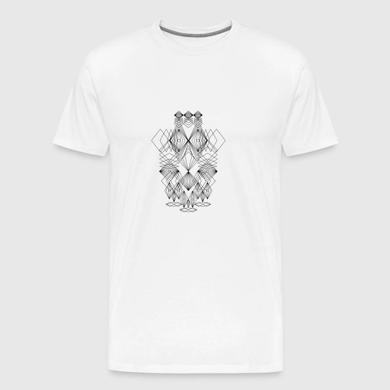 Abstract Faces Drawing Crazy Art - Men's Premium T-Shirt