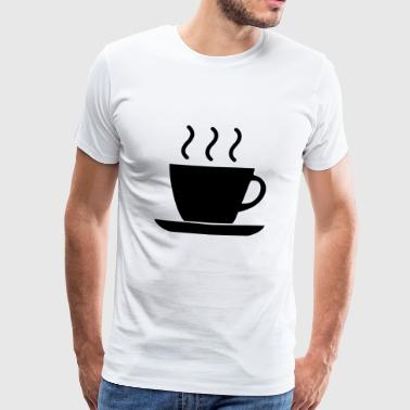 Cafe Coffee Bean coffee cup beans cafe mug coffee beans6 - Men's Premium T-Shirt