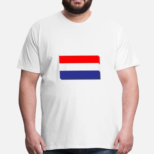 Bandiera Olandese In Design Piatto Maglietta Premium Uomo Spreadshirt