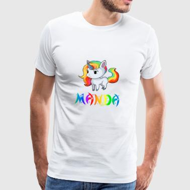 Unicorn Manda - Premium T-skjorte for menn