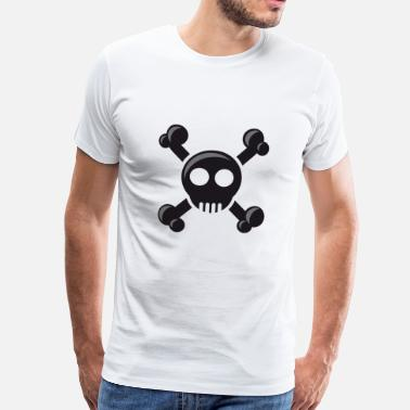 Fools pirate ship boat pirate pirate ship ship skull6 - Men's Premium T-Shirt