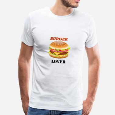 Dirty Burger Burger lover - I love burger fast food - Men's Premium T-Shirt