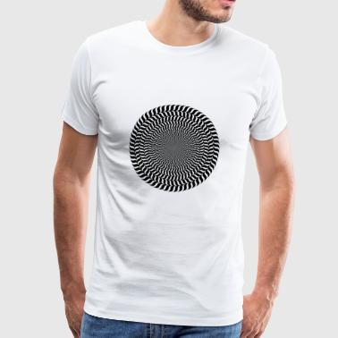 Optisk illusion - Premium-T-shirt herr