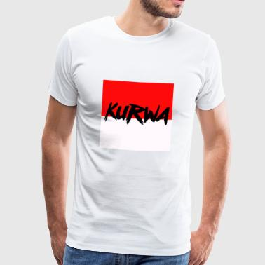 kurwa - Men's Premium T-Shirt