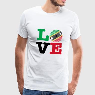 ST KITTS NEVIS HEART - Men's Premium T-Shirt