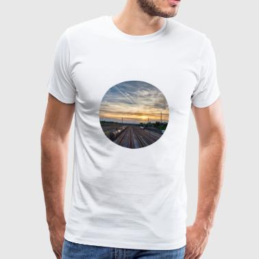 Nuremberg, Sunset, Station, Television Tower - Men's Premium T-Shirt